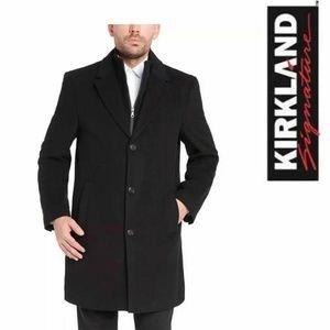 New Kirkland Signature 44R Wool Cashmere Overcoat